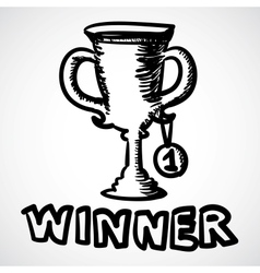 Trophy cartoon vector image vector image
