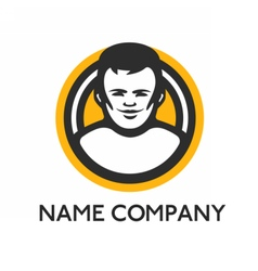 Web logo template vector
