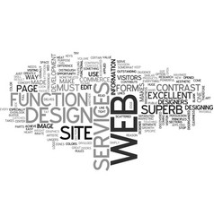what makes a web design superb text word cloud vector image vector image