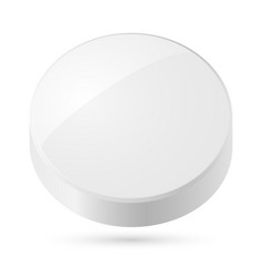 white disk isolated on white background vector image vector image