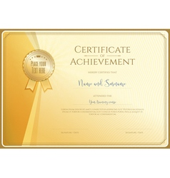 Certificate template for achievement vector