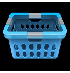 Laundry basket isolated on black vector