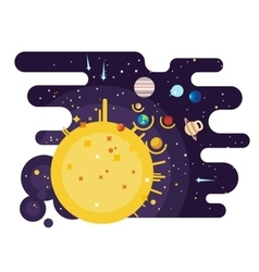 Solar system flat style vector