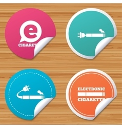 E-cigarette signs electronic smoking icons vector
