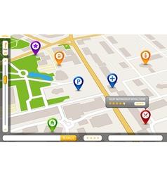 Perspective city map gps service concept 3d city vector