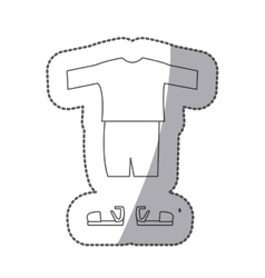 Contour with male clothing pijama short vector