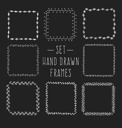 vintage drawing frames to your template vector image
