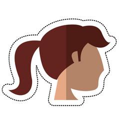 profile head bride woman image vector image