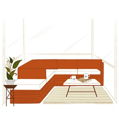 Modern home lounge vector