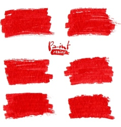 Red marker stains vector