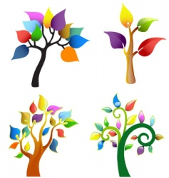 Tree symbol collection vector