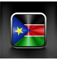 South sudan flag national travel icon country vector