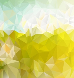 Sunny green meadow polygonal triangular pattern vector
