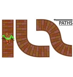 Man walking on brick path vector