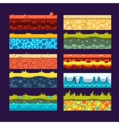 Textures for games platform set of vector
