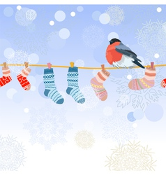 christmas clothes line vector image