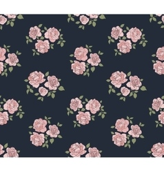 Hand drawn rustic pattern with roses vector