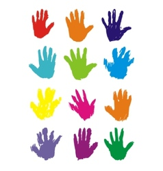hand prints vector image