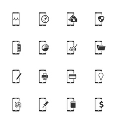 Smartphone simply icons vector