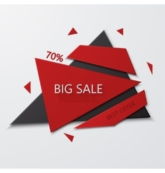Modern big sale and best offer banner on vector