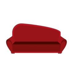 Big red couch graphic vector