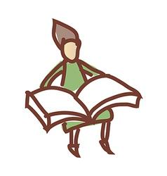 A reading boy vector