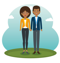 African couple standing design vector