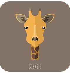 Animal Portrait With Flat Design Giraffe vector image