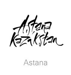 Astana kazakhstan lettering vector