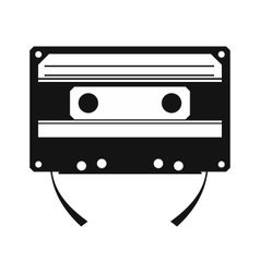 Audio compact cassette simple icon vector
