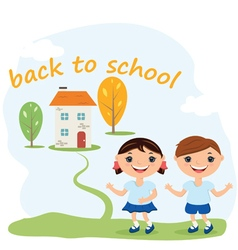 Back to school concept background vector image