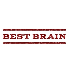 Best Brain Watermark Stamp vector image vector image