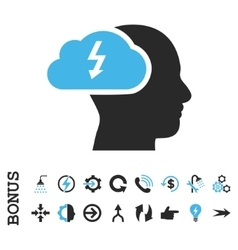 Brainstorming Flat Icon With Bonus vector image vector image