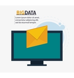 Computer envelope and big data design vector