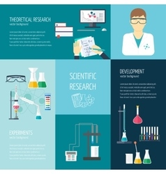concept of research and the chemical vector image vector image