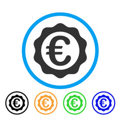 euro award seal rounded icon vector image
