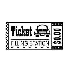 Filling station ticket icon vector image vector image