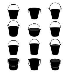 garden pail vector image vector image
