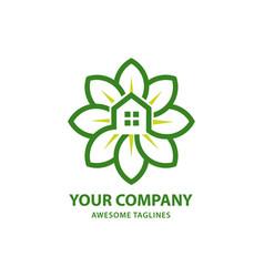 green house modern real estate vector image vector image