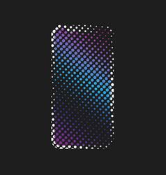 halftone smart phone vector image