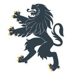 Heraldic lion20 vector image