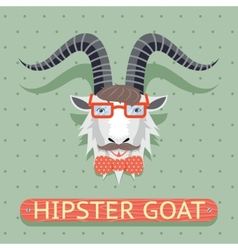 Hipster goat sign vector image vector image