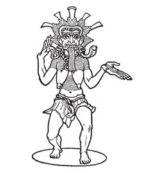 Kali hindu goddess vintage vector