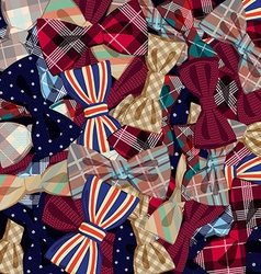 Pattern of bow-ties vector image