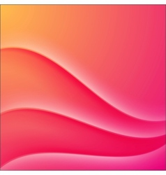 Pink waves abstract business background vector image