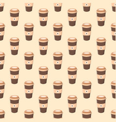 Seamless pattern with coffee in a paper cup vector