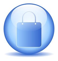 Shopping bag sign button vector