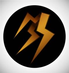 Sign of lightning vector