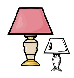 Table Lamps vector image vector image