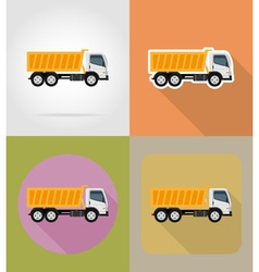 transport flat icons 22 vector image